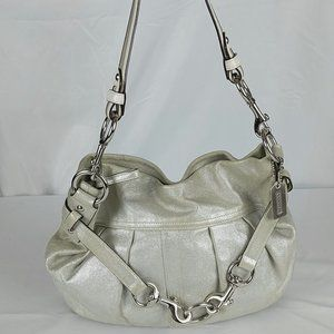 Coach Hobo Bag H05S-8B33 Pearlescent Metal Charm